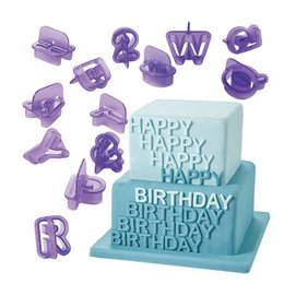 Wholesale Silicone Alphabet Letter - NEW 2015 40pcs Alphabet Letter Number Fondant Cake Biscuit Baking Mould Cookie Cutters ZH810