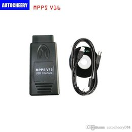 Wholesale Opel Edc16 Tool - Ecu chip tuning OBD2 smps MPPS V16 diagnostic interface ECU flasher for EDC15 EDC16 EDC17 inkl CHECKSUM diagnostic tool