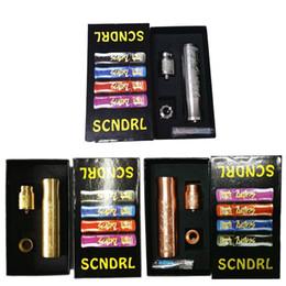 Wholesale V2 Brass - Newest Scndrl Mod Kit Scndrl Full Starter Kit Brass Copper SS 3Colors 24mm with RDA fit 18650 Battery vs TVL Able V2 Rig Kennedy 24 Kits DHL