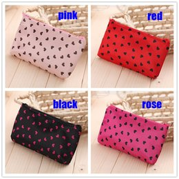 Wholesale Candy Bag Female - 4 Colors Lovely to receive female bag Wash gargle bag hand bag Little love cosmetic bag Gift