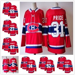 Wholesale Andrew Shaw Jersey - 2018 New Season #67 Max Pacioretty Jersey Montreal Canadiens Red #31 Carey Price #6 Shea Weber #65 Andrew Shaw #92 Jonathan Drouin Jerseys