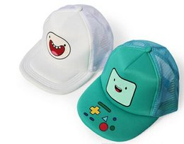Wholesale Adventure Time Finn - 2017 New Arrival 3 styles Adventure TIme Jake and Finn Beemo BMO Baseball Hat Sun Cap Retail 1pcs Free Shipping
