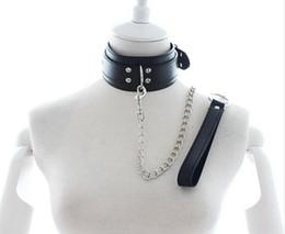 Wholesale Sex Collar Leashes - Leather Sex Bdsm Bondage Collar,Fetish Neck Bondage Restraints,Slave Sex Collar Leash,Sex Toys For Couple