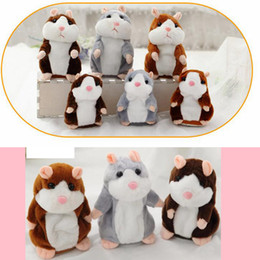 Wholesale Wholesale Christmas Stuffed Animals - Talking Hamster Talk Sound Record Repeat Hamster Stuffed Plush Animal Kids Child Toy Talking Hamster Plush Toys Christmas Gifts NEW SF119