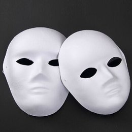 Wholesale Diy Unpainted - Wholesale-Unpainted Blank Face Masquerade Mask Women Men Cosplay Costume Accessories DIY Masks Decor