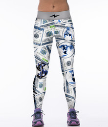 Wholesale Dollar Leggings - Hot Sale Women S ports Leggings Elastic Fashion F itness Workout Most Creative Skull Printing Dollars Leggings Pants