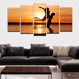 Wholesale Large Decorative Art Frame - HD Canvas Prints 5 Pieces Modern Wall Art Canvas Printed Painting Decorative Picture for Home Decor Large Art Canvas No Frame