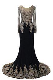 Wholesale Nude Rhinestone Long Sleeves Dresses - Vestidos De Festas 2016 Free Shipping Elegant Long Sleeve Evening Dresses Mermaid Prom Dresses with Rhinestones