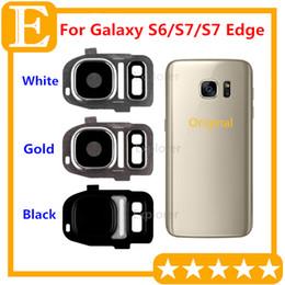 Wholesale Glass Lens Cover - OEM Back Camera Lens Cover for Samsung Galaxy S6 G920F VS S7 S7 edge G930 G935 + Adhesive Sticker Glass Replacement Parts 10PCS Lot