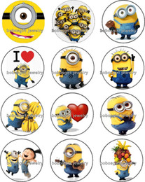 Wholesale Free People Small - Free shipping Small yellow people glass Snap button Charm Popper for Snap Jewelry good quality 12pcs   lot Gl291 jewelry making