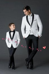 Wholesale Mens Wedding Suits Red Tie - new wedding suits for Boys' Suit shawl lapel boys mens suits two piece Boy's Formal Wear slim fit two button jacket+pants+tie a001