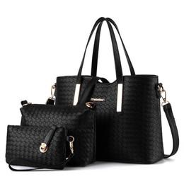 Wholesale Handbag Oil - Three Sets Wax oiled Genuine Leather Women Handbag Shoulder Crossbody Composite Bags for Ladies Handbag&Messenger Bag&Wallet In Stock