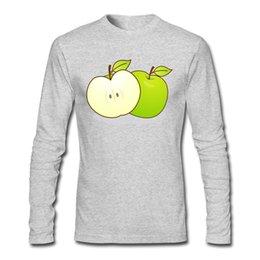 2019 fotos ao ar livre Ao ar livre Camisas de Rua Macio Confortável Maçã Verde Fruta Imagem Tee Shirts Tripulação Pescoço Camisas Designer Especiais fotos ao ar livre barato