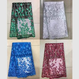 Wholesale Swiss Lace Yard - TS-8 New swiss voile lace in switzerland high quality nigerian lace fabrics for Split Evening Dresses 5 yards piece