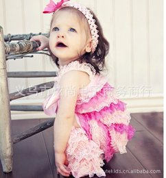 Wholesale Baby Rompers Lace Satin - Wholesale-Satin Lace Multicolor petti rompers for baby Stylish Baby Romper chevron July 4th Romper Birthday Romper --24pcs lot