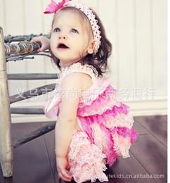 Encaje de chevron online-Al por mayor-Satin Lace Multicolor petti mamelucos para bebé con estilo Baby Romper chevron 4 de julio Mameluco Romper cumpleaños --24pcs / lot