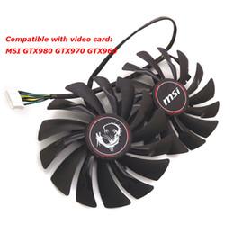 Canada Vente en gros - livraison gratuite radiateur ordinateur refroidisseur ventilateur de refroidissement MSI GTX980 GTX 970 GAMING vidéo carte graphique VGA Offre
