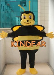 Wholesale New Style Professional Dresses - Wholesale-Professional New Style Bee Mascot Costume Adult SIZE Fancy Dress Cartoon Outfit Suit Free Shipping