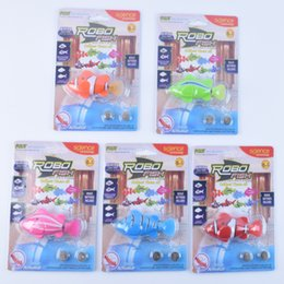 Wholesale Pet Fish Sharks - Robo Fish Shark Water Activated Magical Turbot Fish Electronic Pet Fish Magic Swimming Fish Toys Kids Christmas Gift Good Quality 120pcs