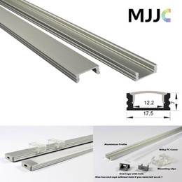 Wholesale Up Profile - MJJC-LP1707 1M led aluminum profile Transparent Milky Frosted PC Cover for LED Flexible Strip LED Rigid Strip up to 12mm width