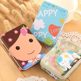Wholesale Metal Box Rectangular - Lovely Metal Rectangular Jewelry Storage Box Candy Tin Box Organizer Holder Trinket Gift Mini Cute 300pcs lot Free shipping
