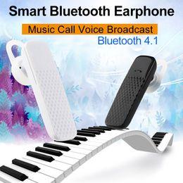 Wholesale Long Standby Phone - Bluetooth earphone Mobile phone headset music call waterproof standby long camera Bluetooth headset 10m For iphone android IOS USB charging