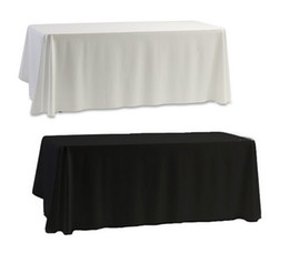 Wholesale table cloth covers wholesale - Wholesale White Black Table Cloth Table Cover for Banquet Wedding Party Decor 145x145cm