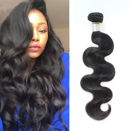 Wholesale Virgin Remy Body Wave Bulk - 7a Wholesale Virgin Brazilian Body Wave Hair Top Selling Remy Human Hair Products 100% Real Sew in Human Hair Extensions Natural Color Bulks