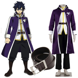 Wholesale Complete Costume - New Exclusive Arrival Apparel Fairy Tail Gray Fullbuster Cosplay Costume Complete Hallowmas Customize Japanese Anime COS