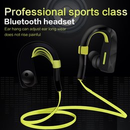 Wholesale Wireless Headphones For Mp3 Player - Bluetooth Headset Sports Running Headphones rich bass Stereo Wireless Earphones with Mic Multi-point Handsfree Mp3 Player for iPhone 6 6s