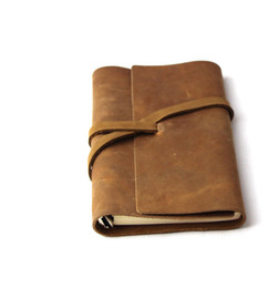 Wholesale Thick Notepad - Wholesale- Korea stationery ultralarge thick leather notepad diary notebook RJ07
