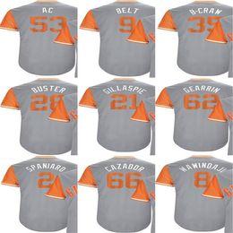 Wholesale Green Baseball Belt - 2017-Little League Buster Posey Belt Austin Slater Brandon Belt Brandon Crawford Gillaspi Adult Kid SF Cool Baseball Jerseys