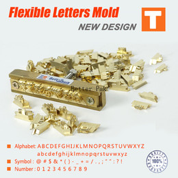 Wholesale T type flexible letters CNC engraving mold hot foil stamping machine number alphabet symbol customization font Character mold