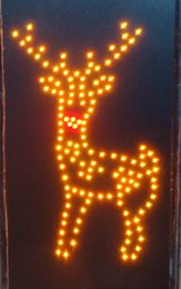 Wholesale Deer Signs - FLASHING CHRISTMAS DEER LED SIGN LARGE SIZE 60CMX40CM FREE SHIPPING
