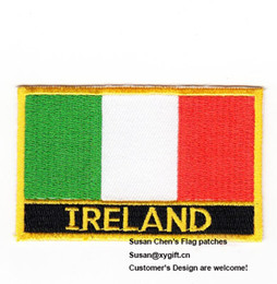 Wholesale Flag Clothes - Ireland Flag Patches Iron on patches,embroidery patches,logo embroidery patches,embroidery patches for clothing,custom embroidery patches,