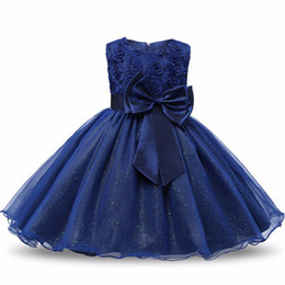 Wholesale Christmas Tutus - Flower Sequins Princess Dresses Toddler Girls Summer Halloween Party Girl tutu Dress Kids Dresses for Girls Clothes Wedding