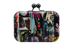 Feminino saco atacado na Europa e no verão 2016 novo shell mini bolsa de graffiti com bolsa de ombro único, saco de noite de
