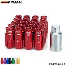 Wholesale Honda Races - EPMAN - Jdm Racing Style Aluminum Lock Lug Nuts 20Pcs W Key 12x1.5 For Honda Toyota Mitsubishi EP-E650H-1.5