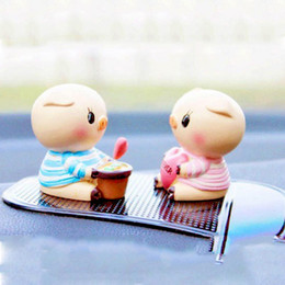Wholesale Pig Cute Love - 1 Pair of Fashion Cute Love Pig doll car freshener indoor decoration toys