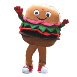 Wholesale Christmas Party Outfit Characters - OISK Hamburger Mascot Costume Cartoon Character Christmas Birthday Party Fancy Dress Carnival Outfit Adult Costumes