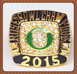 Wholesale Duck Plate - Free Shipping For 2015 NCAA Rose Bowl Fan Championship Ring, Oregon Ducks Champions Ring Size 11 As Best Gift