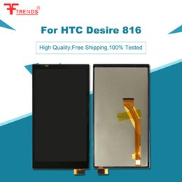 Wholesale Desire C Digitizer - Lcd display For HTC Desire 816 Display Screen Replacement For HTC Desire 816 Display completed with touch Screen digitizer assembly Black C