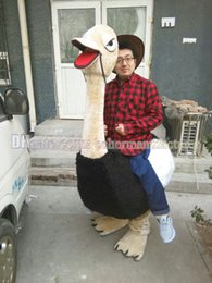 Wholesale Ostrich Mascot Costumes - Ostrich mascot costume hot sale discount, high quality plush mascot suit adult black ostrich type free shipping.