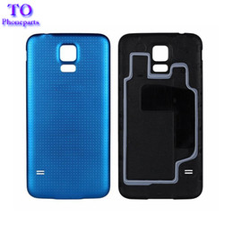 Wholesale battery cover door - 100pcs Rear Battery Housing Door Back Cover Case for Samsung Galaxy S5 G900 G900A G900H G900F Free Shipping