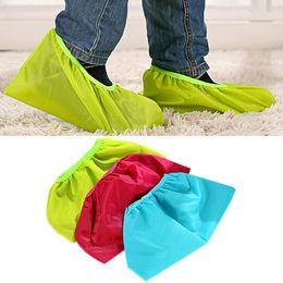 Wholesale Kids Rain Cover - Outdoor Oxford Waterproof Rain Candy Color Shoe Covers Overshoes For Men Women Kids Snowpear E00453
