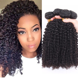 "Wholesale Kinky Hair Weave Styles - Cheap Price Brazilian Hair Weave Kinky Curly Style Natural Color Unprocessed Kinky Curly Hair 10""-30"" Kinky Curly Hair Extensions"