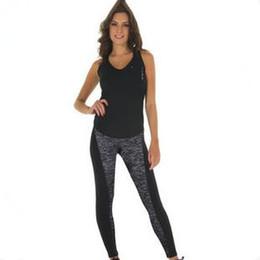Wholesale Sports Activewear Fashion - 2016 Fashion Women Activewear Yoga Pants Spandex Workout Athletica Gym Leggings Elastic Large Size Sports Tights 1031