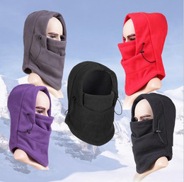 Wholesale Fits Ski Mask - New Arrivels Thick Fleece Winter Thermal Warm Balaclava Hood Swat Ski Motorcycle Neck Face Mask Hood Hat Helmet Cap