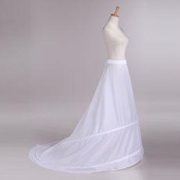 Wholesale Petticoats Train - Long Full Hoop Petticoats for Wedding Dress Woman Bridal Petticoat Underskirt Crinoline A Line with Train enaguas novia