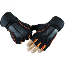 Wholesale Body Fitness - Breathable Microfiber Gym Body Building Training Fitness Half finger Gloves Men Women Exercise Tactical Gloves